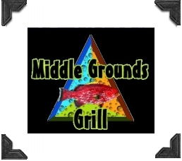 fish on logo for middle grounds grill on treasure island florida